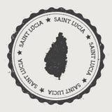 圣卢西亚贴纸 图库摄影