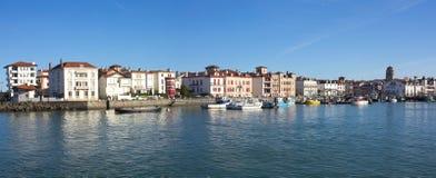 圣吉恩De Luz在Pyrénées-Atlantiques,法国。 免版税图库摄影