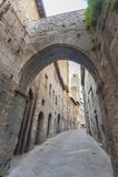圣吉米尼亚诺中世纪村庄,托斯卡纳,意大利 免版税库存图片