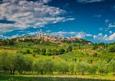 圣吉米尼亚诺,其中一个意大利的最好的村庄 免版税库存图片