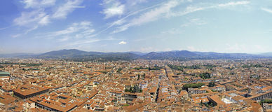 从圣吉米尼亚诺,意大利的看法 库存照片
