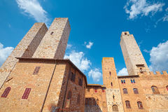 圣吉米尼亚诺,托斯卡纳中世纪村庄的历史中心  免版税库存图片