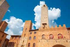 圣吉米尼亚诺,托斯卡纳中世纪村庄的历史中心  免版税库存照片