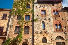圣吉米尼亚诺,托斯卡纳中世纪村庄的历史中心  免版税图库摄影