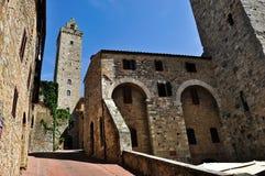 圣吉米尼亚诺,托斯卡纳多数浪漫镇 免版税库存照片