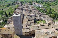 圣吉米尼亚诺,托斯卡纳,意大利的历史的中心 免版税库存图片