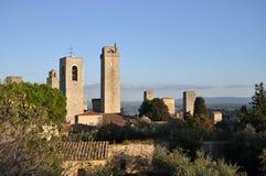 圣吉米尼亚诺,托斯卡纳,意大利 库存照片
