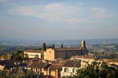 圣吉米尼亚诺,托斯卡纳,意大利 免版税库存图片