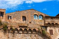 圣吉米尼亚诺-锡耶纳托斯卡纳意大利 免版税库存图片