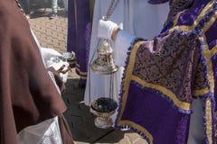 圣周在塞维利亚,香火 免版税库存图片