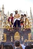 圣周在塞维利亚,安大路西亚,西班牙 库存照片