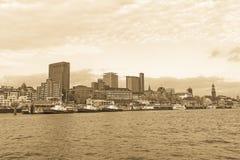 圣圣保利队码头的图,一汉堡` s少校游人attr 免版税库存图片