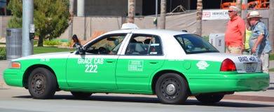 圣地亚哥出租汽车 免版税库存照片