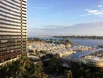 圣地亚哥加利福尼亚小游艇船坞! 免版税库存图片