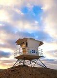 圣地亚哥加利福尼亚,美国海滩救生员房子 免版税库存照片