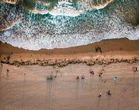 圣地亚哥和平的海滩鸟瞰图 免版税库存图片