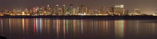 圣地亚哥在晚上 免版税库存图片