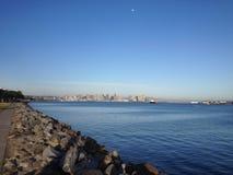 圣地亚哥地平线的看法 图库摄影