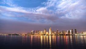 圣地亚哥地平线街市城市江边科罗纳多海岛 库存图片