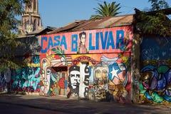 圣地亚哥壁画  免版税库存照片