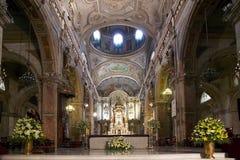 圣地亚哥大城市大教堂,圣地亚哥de智利,智利 免版税库存图片