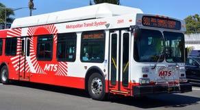 圣地亚哥大城市运输系统公共汽车  库存照片