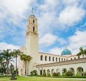圣地亚哥大学Immaculata教会  免版税库存照片