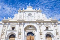 圣地亚哥大教堂在安提瓜岛 免版税库存照片