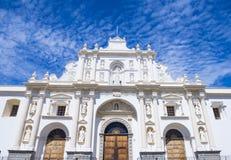 圣地亚哥大教堂在安提瓜岛 库存照片