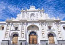 圣地亚哥大教堂在安提瓜岛 图库摄影