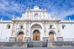 圣地亚哥大教堂在安提瓜岛 库存图片