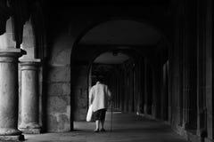 圣地亚哥孔波斯特拉,西班牙- 2017年10月 免版税库存照片