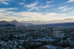 圣地亚哥市在智利 免版税库存照片