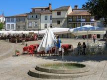 圣地亚哥广场在吉马朗伊什,葡萄牙 库存照片