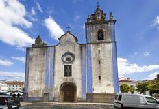 圣地亚哥托里斯Vedras教会  免版税库存图片