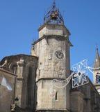 圣地亚哥教会的尖沙咀钟楼在贝坦索斯 库存照片