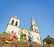 圣地亚哥教区在新莱昂州墨西哥 图库摄影