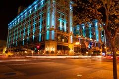 圣地亚哥旅馆在晚上 免版税图库摄影