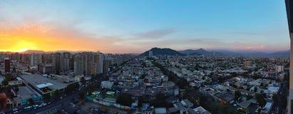 圣地亚哥智利全景  免版税图库摄影