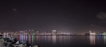 圣地亚哥最美好的街市地平线 免版税库存照片