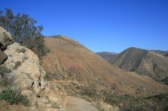 圣地亚哥河峡谷足迹 库存图片