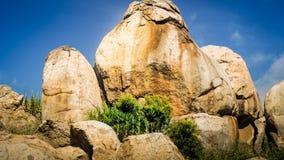 圣地亚哥河足迹的巨石城 库存图片