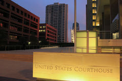 圣地亚哥法院大楼 免版税库存图片