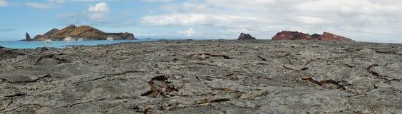 圣地亚哥海岛火山的风景  免版税库存照片