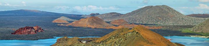 圣地亚哥海岛火山的风景  库存照片