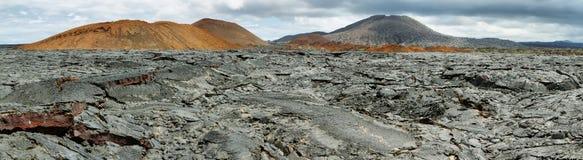 圣地亚哥海岛火山的风景  免版税库存图片
