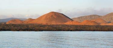 圣地亚哥海岛火山的风景  图库摄影