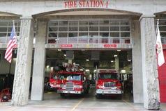 圣地亚哥火抢救部门消防局1在圣地亚哥,加利福尼亚 免版税库存图片