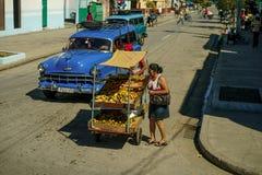 圣地亚哥街道  免版税库存照片
