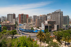 圣地亚哥都市风景 免版税库存照片